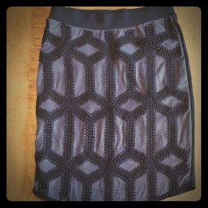 H&M intriguing grey and black skirt